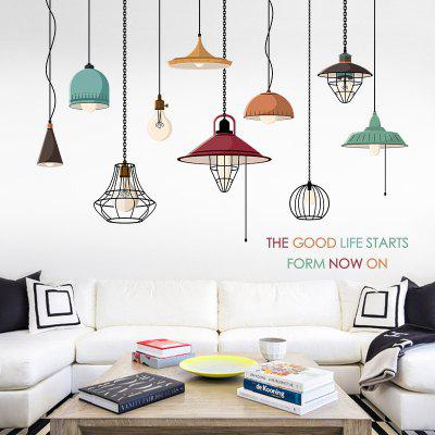 Simple Home Chandelier Home Background Decoration Removable Sticker