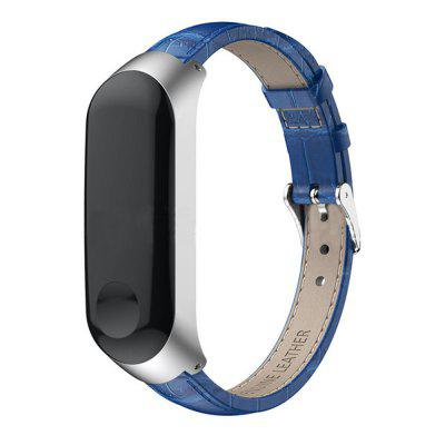 Smart Watch Replacement Leather Wristband + Metal Frame for Xiaomi Mi Band 3/4