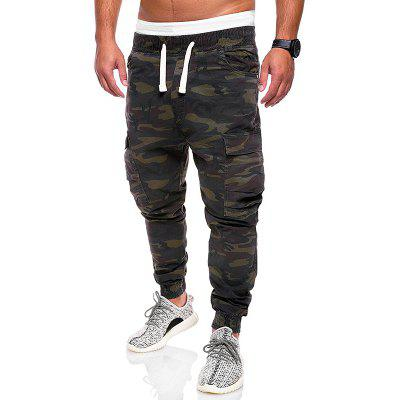 Men Fashion Camouflage Overalls Cotton Trousers