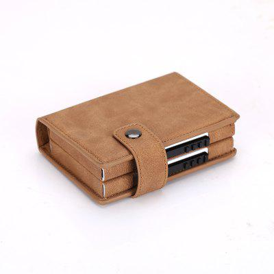 Double Card Aluminum Alloy Card Box Wallet Security Card Wallet