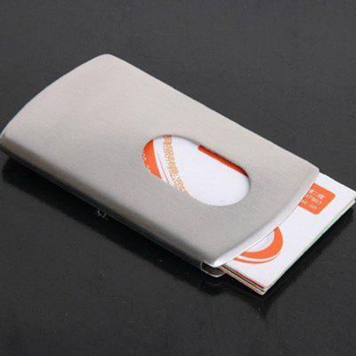 Bank Card Box Sleeve Hand Push Metal Wire Business Card Clip Case