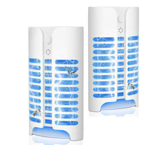 Electric Plug Bug Zapper Mosquito Killer Lamp with Light Sensor for Indoor  2PCS