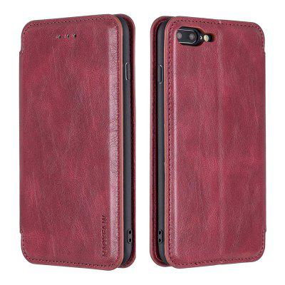PU Leather Flip Card Holder Magnetic Phone Case for iPhone 7 Plus / 8 Plus
