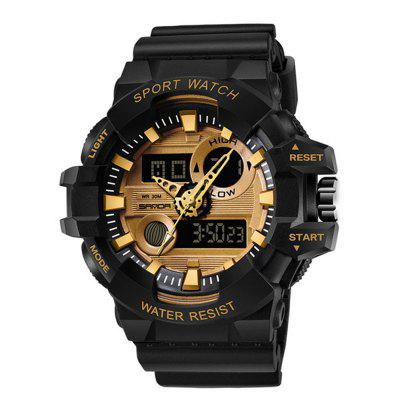 Sanda Fashion Men's Calendar Noctilucent Chronograph Analog-Digital Sport Watch