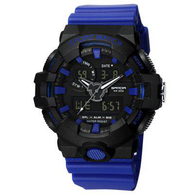 Sanda Casual Men's Calendar Noctilucent Chronograph Analog-Digital Sport Watch