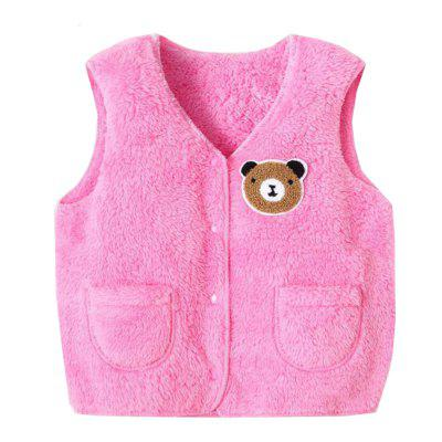 Children Cartoon Sleeveless Corduroy Vest Outerwear