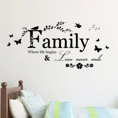 New Family English Rumors Home Decoration Wall Stickers Removable Stickers