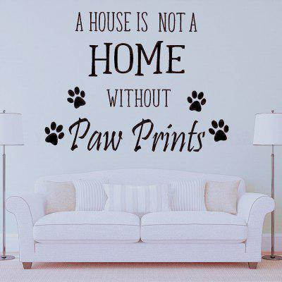 UNA CASA NON E 'Rumore Inglese Home Decoration Wall Stickers Removable Stickers