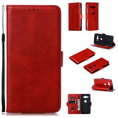 Calf Pattern Protective Sheath Purse Phone Case for Sony Xperia XZ2 Compact