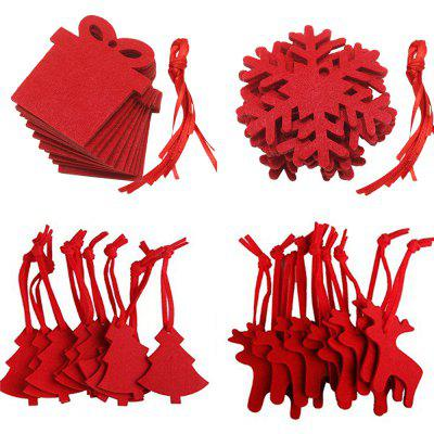 Red Christmas Non Woven Pendant 10 Pieces Each (40pcs)