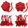 Red Christmas Non Woven Pendant 10 Pieces Each (40pcs) - ROSE RED