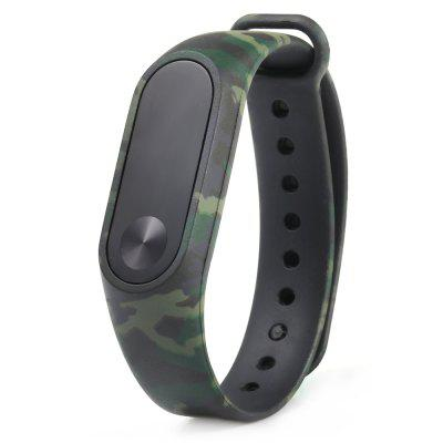 Camouflage siliconen polsband voor Xiaomi Mi Band 2 Smart Watch