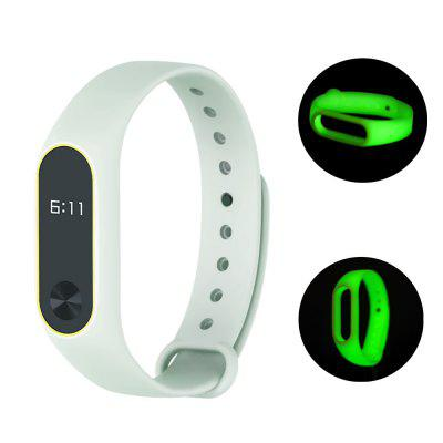 Two-color Luminous Replacement Wrist Strap for Xiaomi Mi Band 2