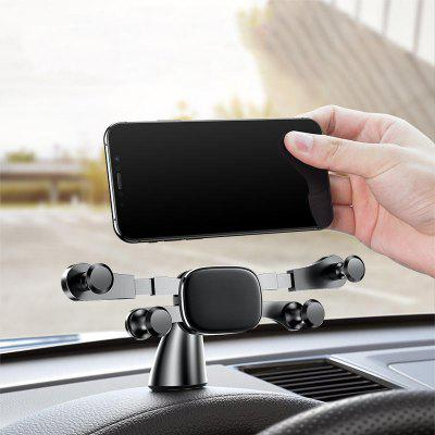 Horizontal Gravity Linkage Automatic Lock Dashboard Mount Car Phone Holder