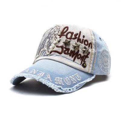 Men and Women Awning Wicker Casual Letter Baseball Caps