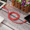 1m Cotton 8 Pin Mobile Phone Data Sync USB Charging Cable for iPhone 6/7/8/X/XS - RED