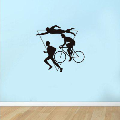 Cycling Swimming Running Fitness Home Background Decoration Removable Sticker