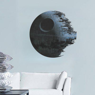 3D Cartoon Death Planet Home Background Decoration Removable Sticker