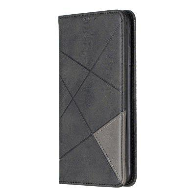 Splicing Anti-Fall Protective Leather Phone Case for iPhone XS MAX