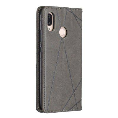 Splicing Anti-Fall Protective Leather Phone Case for Huawei P20 Lite