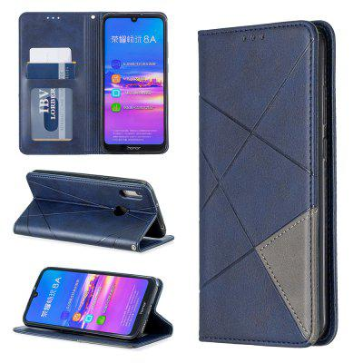 Splicing Anti-Fall Protective Leather Phone Case for Huawei Y6 2019/Honor 8A