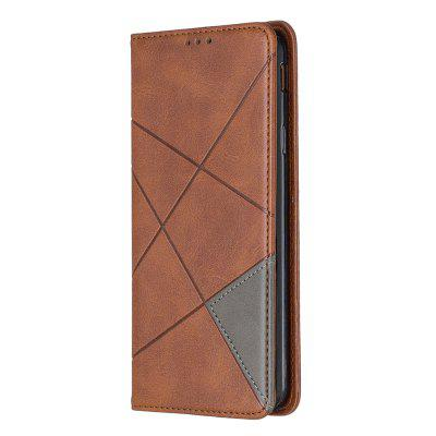 Splicing Anti-Fall Protective Leather Phone Case for Samsung Galaxy J4 Plus