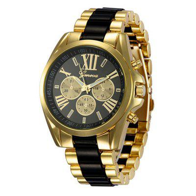 Geneva Men Watches Stainless Steel Business Wristwatch Quartz Watch