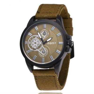Moda Criativa Men'S Chronograph Canvas Quartz Dress Watch