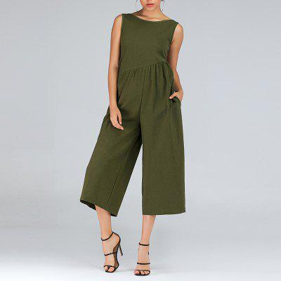 Women's  Halter Loose Jumpsuit Wide Leg Pants