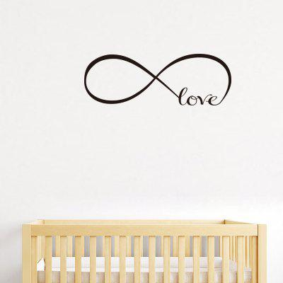 Loop Love Theme English Letter Home Background Decoration Removable Stickers