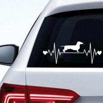 ECG Dog Car Sticker Background Wall Decoration Wall Sticker Vyměnitelná nálepka