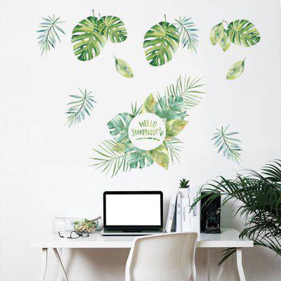 New Plant Green Leaf Home Background Decoration Removable Sticker