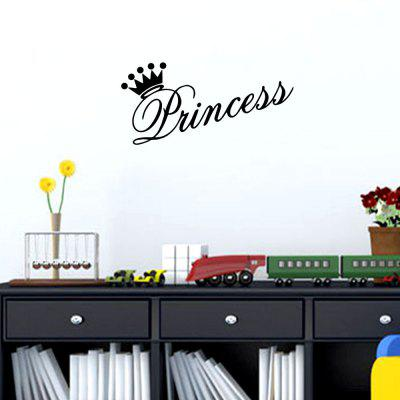 Princezna Crown Home Background Wall Decoration Wall Sticker Vyměnitelná nálepka