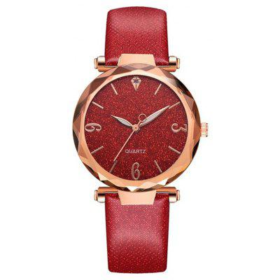 Reebonz Luxury Starry Sky Dial Leather Band Fashion Dress Quartz Watch