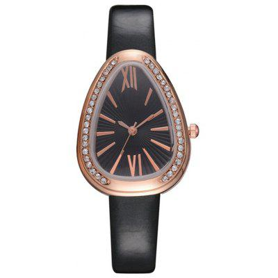 Reebonz Snake Shape Women Fashion Rome Scale Crystal Quartz Watch