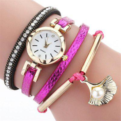 Reebonz Luxury Women Fashion Bracelet Leather Belt Creative Quartz Watch