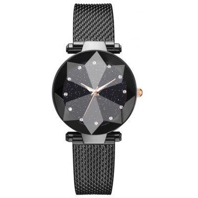 Reebonz Women Starry Sky Bracelet Luxury Geometric Surface Quartz Watch