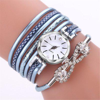 Reebonz Women Leather Quartz Wristwatch Brand Luxury Rhinestone Fashion Watch