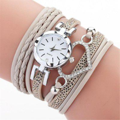 Reebonz Ladies Luxury Braided Leather Quartz Fashion Women'S Wristwatch
