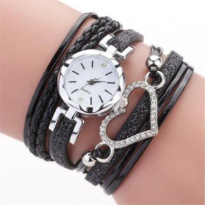 Damski zegarek na rękę Reebonz Ladies Luxury Braided Leather Quartz Fashion