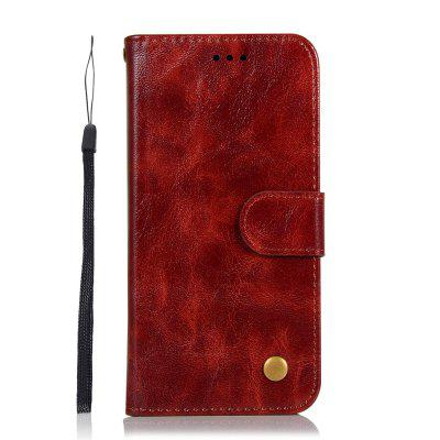 Simplicity Wallet Flip Bracket Leather Phone Case for OnePlus 7 Cover