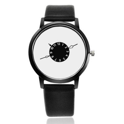 REEBONZ Men Fashion Style Quartz Leather Straps Quartz Watch
