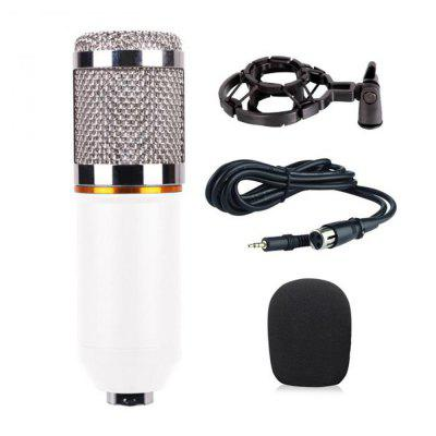 Microphone d'Enregistrement Filaire Audio à Condensateur Professionnel de 3,5MM Support d'Ordinateur