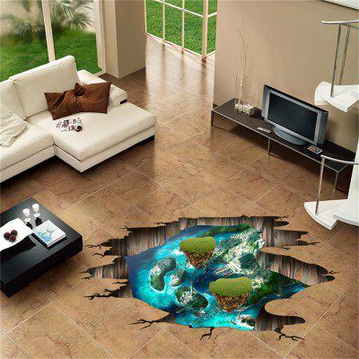 3D Broken Wall Fantezie Insula etichete pardoseli Home Decorare Removable Stickers
