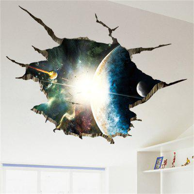 Outer Space 3D Planet Floor Sticker Home Decor Background Removable Sticker