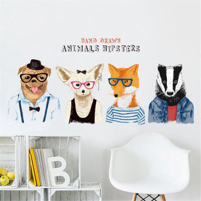New Cute Animal Avatar Home Background Décoration Sticker amovible