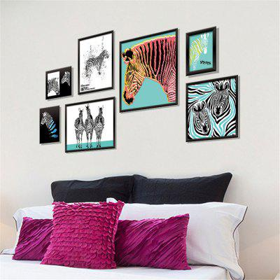 Art Photo Frame 3D Zebra Home Background Decoration Removable Sticker