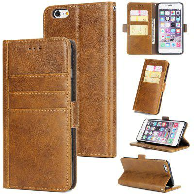 Three-Card Genuine Leather Phone Case for iPhone 6/iPhone 6S