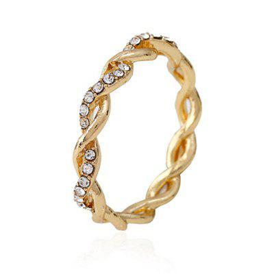 Fashion Jewelry Accessories Women Drilled with Twisted Rings
