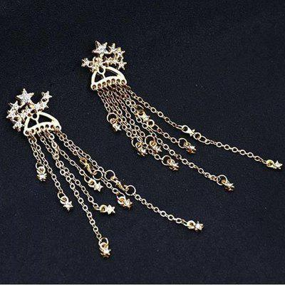 Boucles d'oreille Sparkling Stars Tassel with Exquisite Accessories